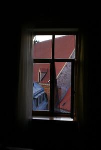 Hotel window.