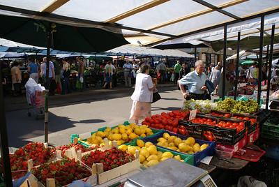 Local market.  We sampled the fresh strawberries.