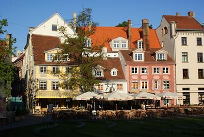 Riga street scene.