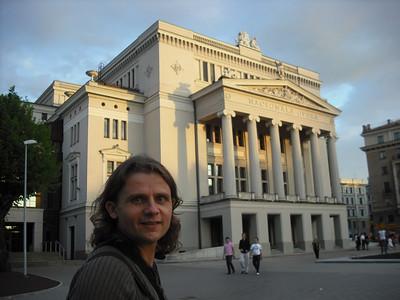 Outside the National Opera House.