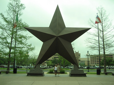 Mom and Dad under the Star at the Texas State History Museum.