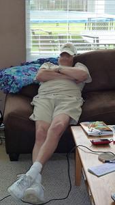 Dad sleeping.