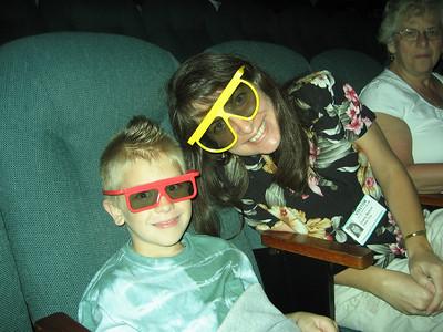 Matt and Aunt Diane in the Bob Bullock IMAX theatre. We saw Ocean Wonderland in 3D.