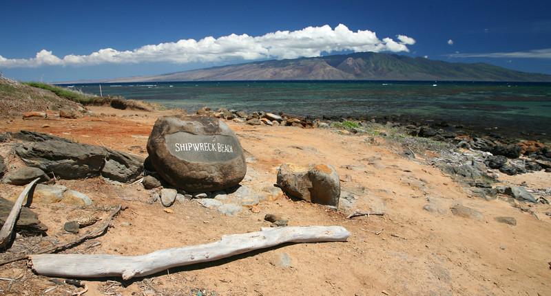 Shipwreck Beach on Kalohi Channel, and Molokai.