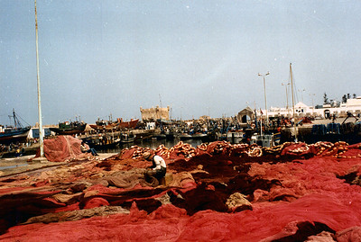 Fish nets. Essaouira, Morocco.