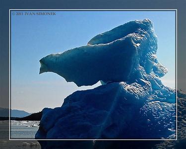 """""""ALASKAN SFINX"""",an iceberg,LeConte Bay,Alaska,USA."""