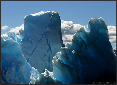 """TOWERS OF ICE"",icebergs,LeConte Bay,Alaska,USA."