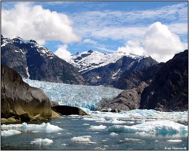 """LeCONTE"", a glacier near Petersburg, Alaska, USA.-----""LeCONTE"", ledovec u Petersburgu, Aljaska, USA."