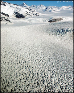 """GLACIER SNOWFIELD"", near LeConte glacier, Alaska, USA."