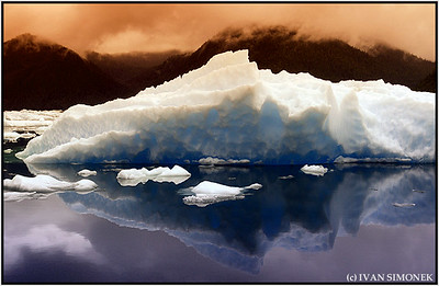 """""""OUT OF THIS WORLD"""",LeConte Bay,Alaska,USA.Altered photo,false colors."""