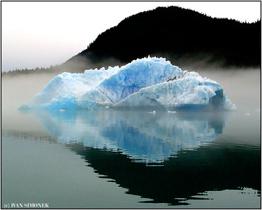 """COOL AND MISTY"", LeConte Bay, Alaska, USA."