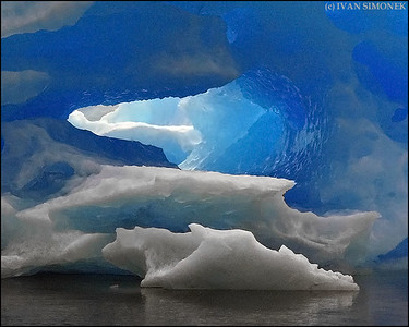 """INSIDE ICEBERG"",LeConte Bay,Alaska,USA."