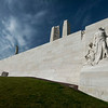 Vimy Memorial - the front side- The Wall of Defence