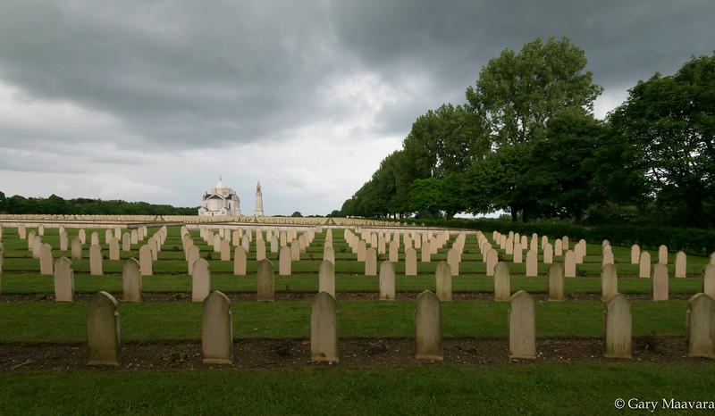 The French cemetery at Notre-Dame-de Lorette.