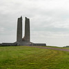 Vimy Memorial - the front faces away from the approach walkway.