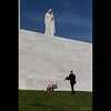 LCol Paul Fredenburg places a wreath at Vimy.