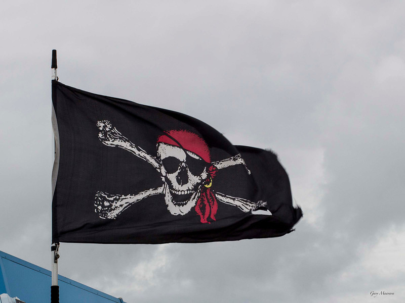 Nothing captures Dieppe better than a Jolly Roger.