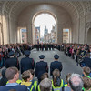 Each night at 8pm there is a ceremony at the Menin Gate to honour the dead.  It has occurred every day since 1918 with a hiatus during the Nazi occupation.  The evening the Nazis retreated, the ceremony was performed and it continues to this day.