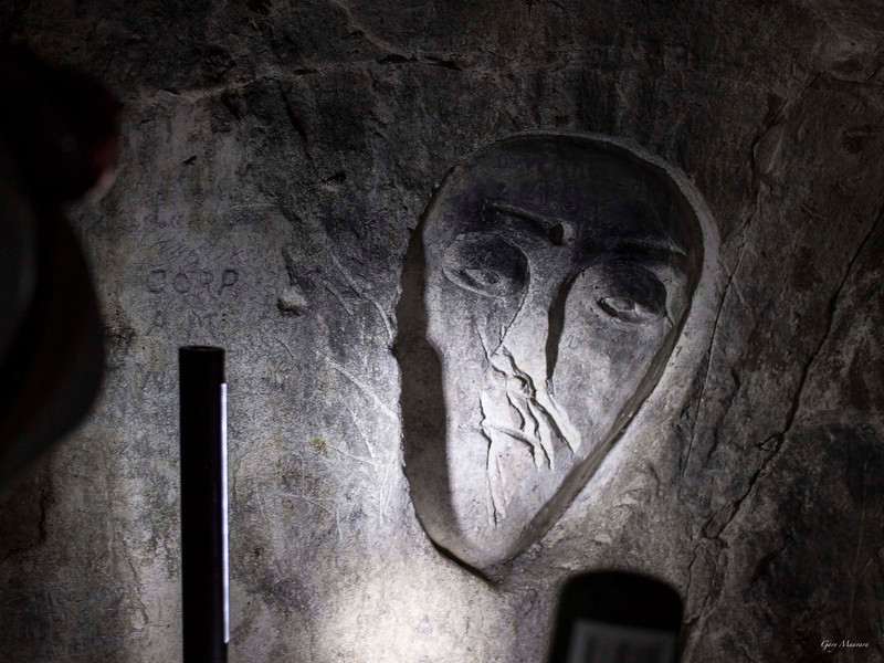 wall carvings in the caves at Maison Blanche