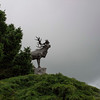 The Beaumont-Hamel Newfoundland Memorial is guarded by a caribou.