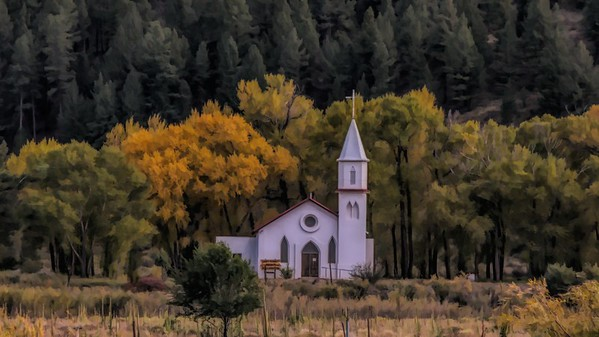 Topaz - Stylized Church in South Fork, CO