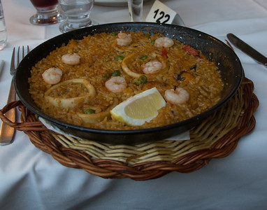 the traditional Spanish Paella