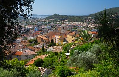 hillside town near Toulon, France