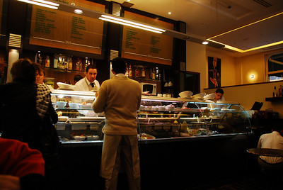 """Lina's"" in the downtown area of Beirut where we had lunch."