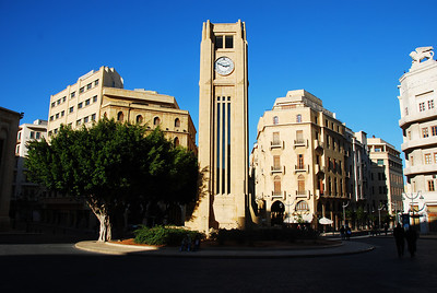 Place d'etoille in the downtown area of Beirut