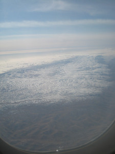 The ski fields of the Chouf Mountains as we flew into Beirut, taken from our Air Arabia plane.