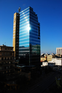 A new building across the road from our hotel in Beirut.