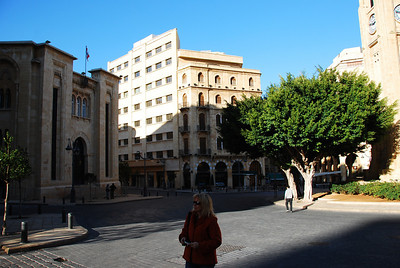 The downtown area of Beirut