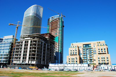 New development in the downtown area of Beirut including a building that looks like a Baby BurJuman.