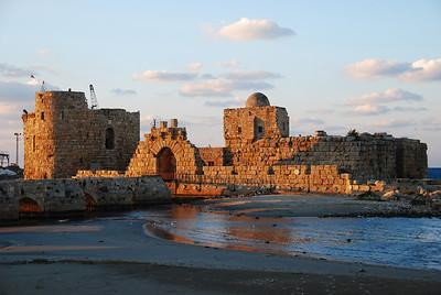The crusader sea castle at Sidon (now called Saida).