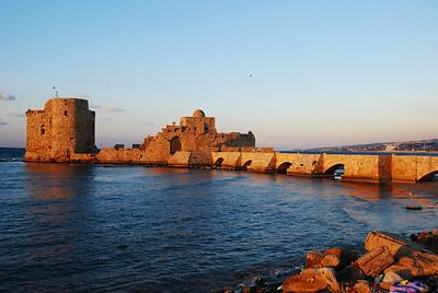 Crusader sea castle at Jeita