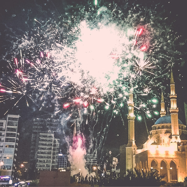 Fireworks welcomed us our first night in Beirut