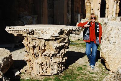 A column capital.