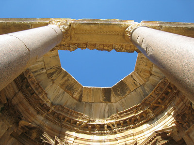 In the central courtyard at Baalbeck.