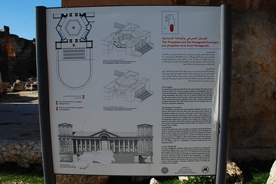 Map of the forecourt at Baalbeck.