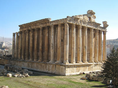 The Temple of Bacchus at Baalbeck.