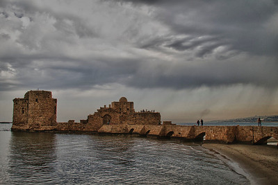 Sidon sea castle (in the rain)