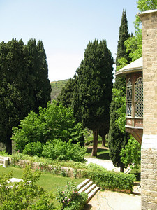 Gardens overlooked by the Beiteddine Palace, Jebal Lebnan, Lebanon