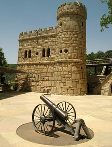 "Courtyard within the ""Musa"" citadel, Dair El Amar, Lebanon"