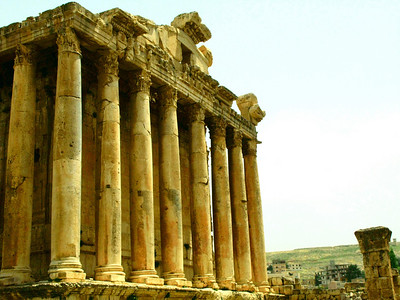The Temple of BAcchus, Roman ruins at Baalbek, Lebanon