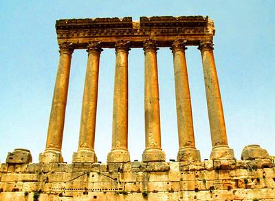Roman ruins at Baalbek, Lebanon