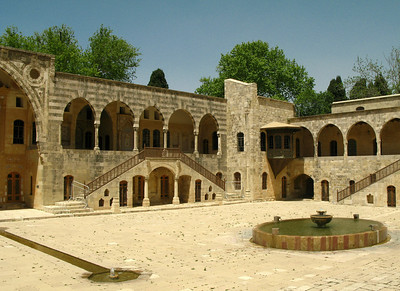 Courtyard within the Beiteddine Palace, Jabal Lebnan, Lebanon