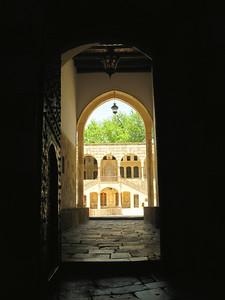 Corridor leading into Beiteddine Palace courtyard, Lebanon
