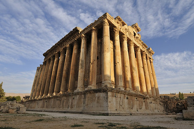 The magnificent Temple of Bacchus in Baalbek, Lebanon.
