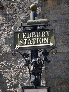 Old Ledbury Railway Station Sign