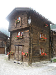 Traditional wooden house Switzerland
